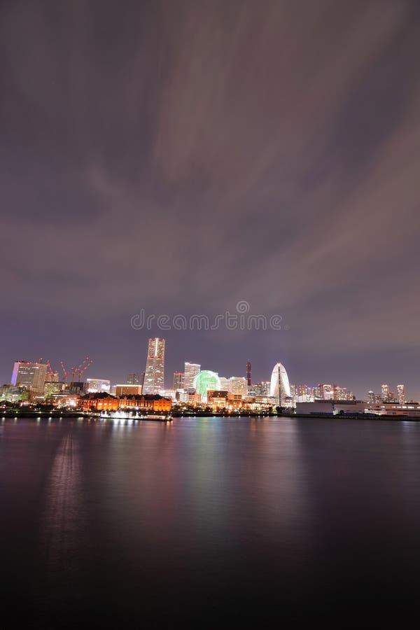 Landschap van gebied het van de binnenstad van Minatomirai in Yokohama, Japan stock fotografie