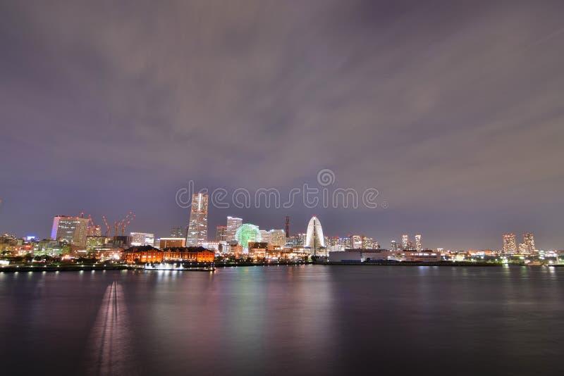Landschap van gebied het van de binnenstad van Minatomirai in Yokohama, Japan royalty-vrije stock foto