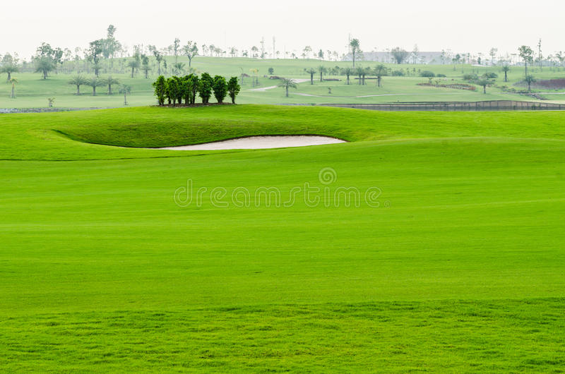 Landschap van golfcursus stock foto