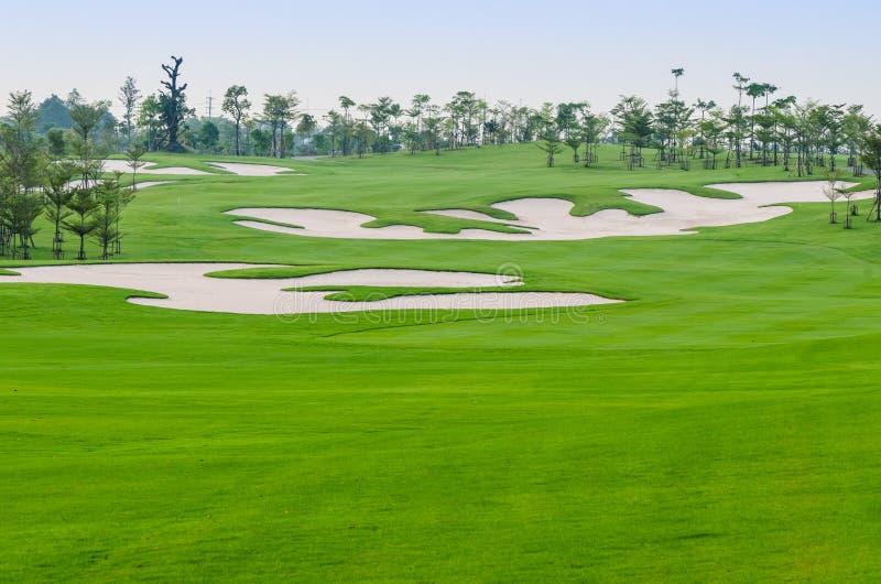 Landschap van golfcursus stock foto's