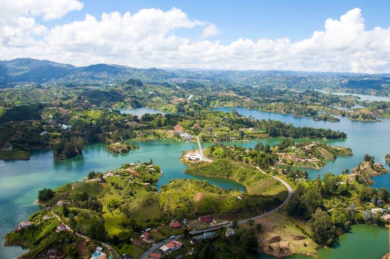 Landschap van Guatape, Colombia stock fotografie