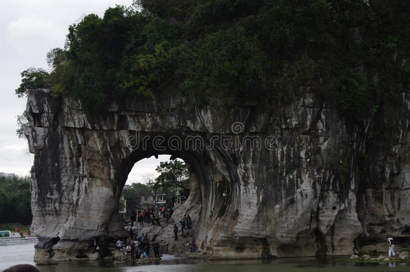 Landschap van guilin China stock foto