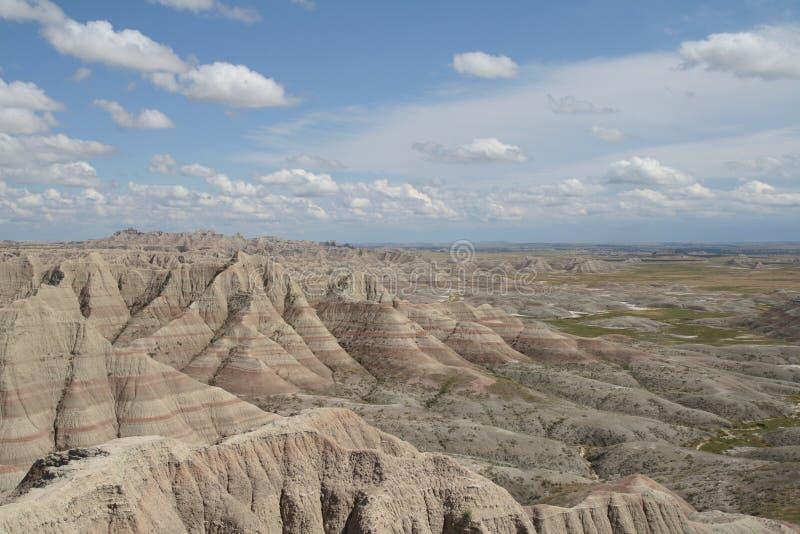 Landschap van het Badlands het Nationale Park, Zuid-Dakota stock foto's