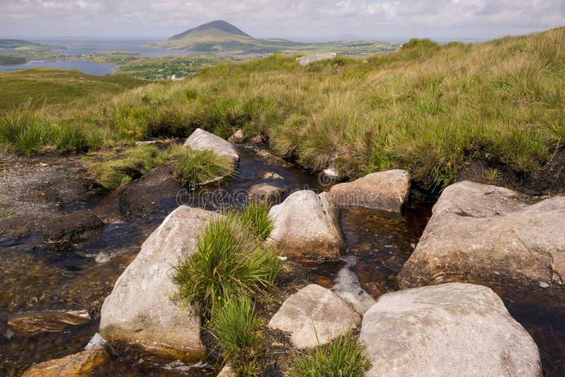 Landschap van het Connemara het nationale park stock fotografie