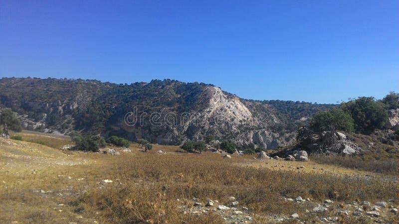 Landschap van het Eiland Cyprus stock afbeelding
