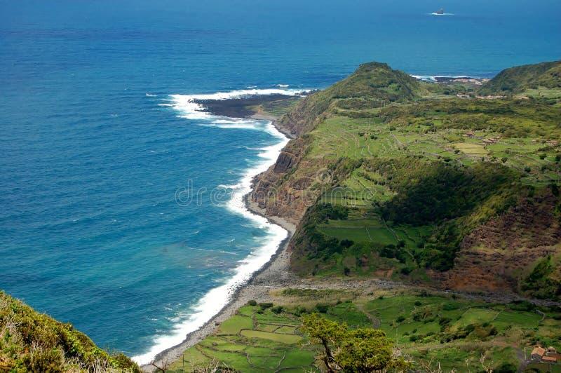 Landschap van het Eiland Flores De Azoren, Portugal royalty-vrije stock fotografie