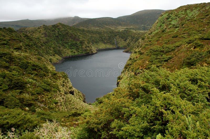 Landschap van het Eiland Flores De Azoren, Portugal royalty-vrije stock foto