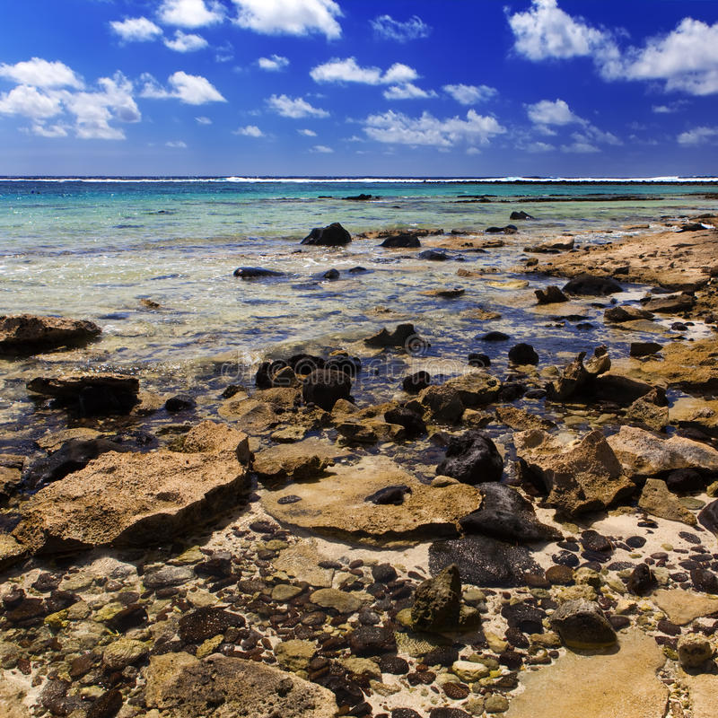 landschap van het eiland Gabriel. royalty-vrije stock foto