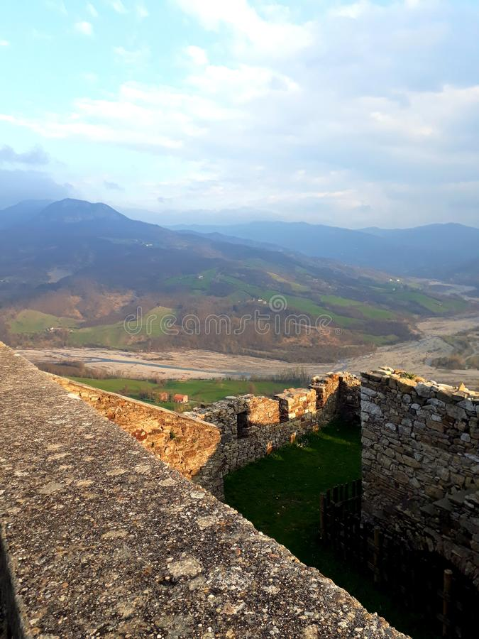 Landschap van het kasteel stock foto