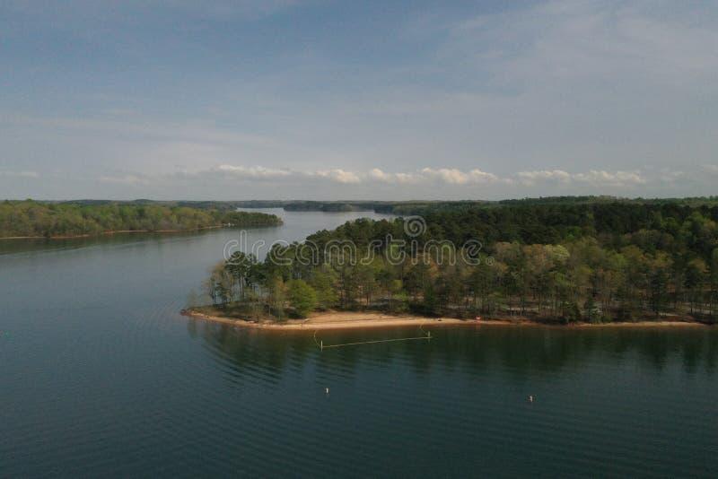 Landschap van het meer stock afbeelding
