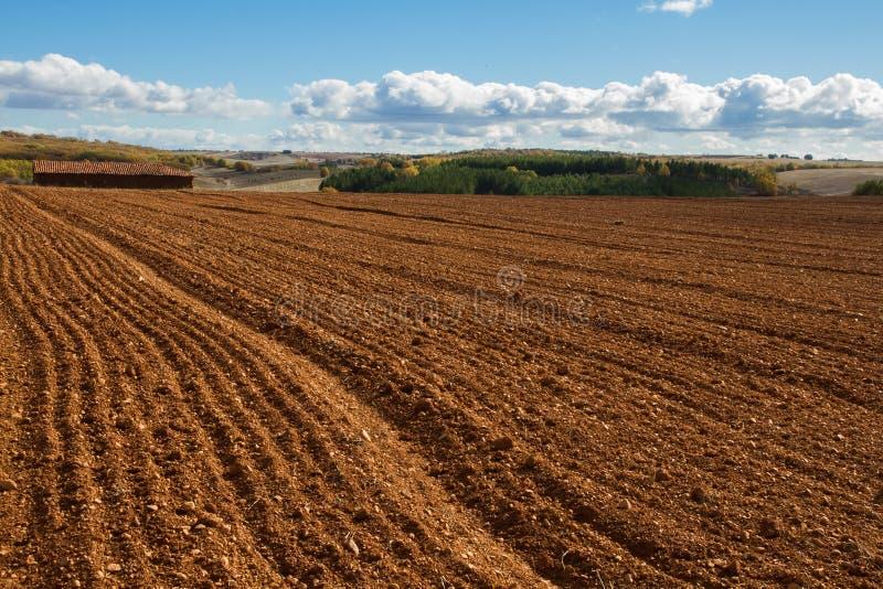 Download Landschap Van Het Plattelands Het Ploegende Gebied Stock Afbeelding - Afbeelding bestaande uit land, niemand: 39115739