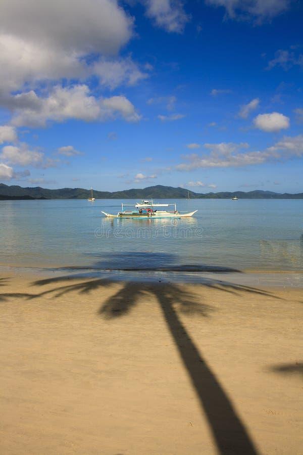 Landschap van het strand van Havenbarton Het Eiland Palawan filippijnen royalty-vrije stock foto's