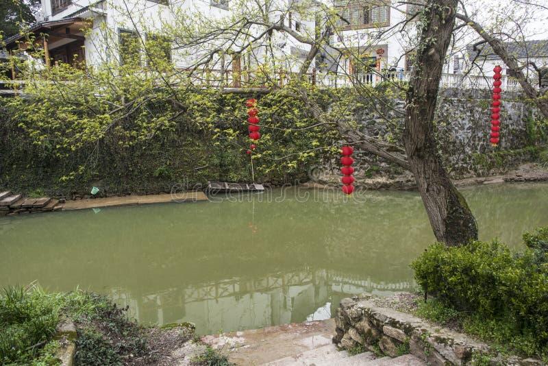 Landschap van het Zhejiang het changxing platteland stock afbeelding