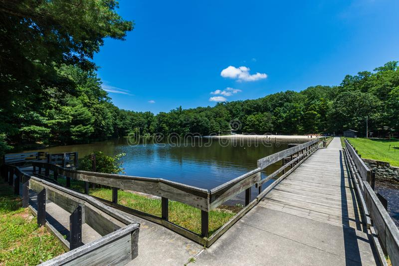 Landschap van het het Zwemmen en Visserijgebied in Kolonel Denning St royalty-vrije stock fotografie