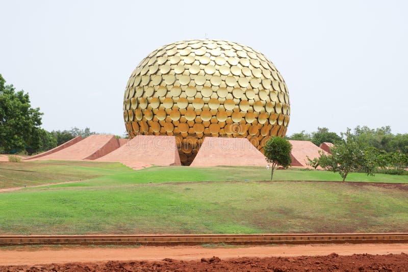 Landschap van historisch belangrijke auroville royalty-vrije stock afbeelding