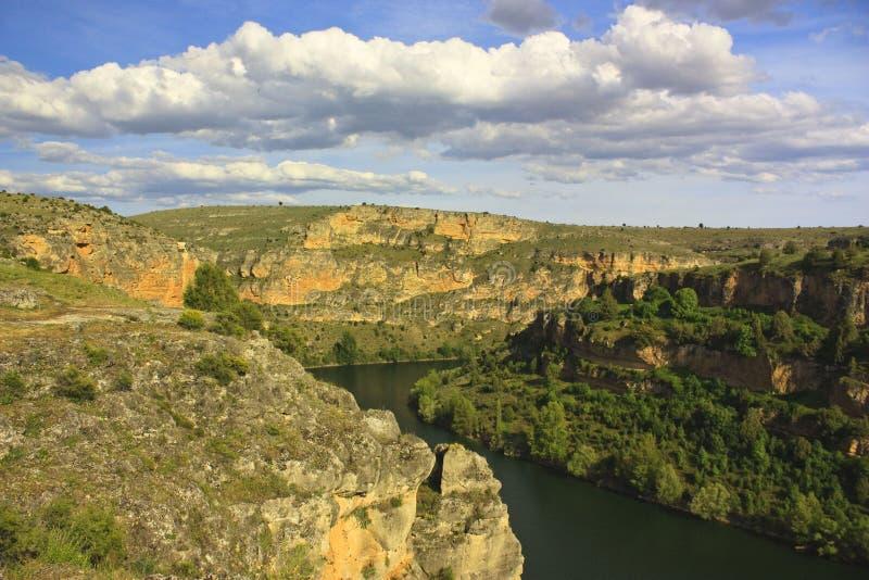 Landschap van Hoces DE Duraton, Spanje stock afbeeldingen