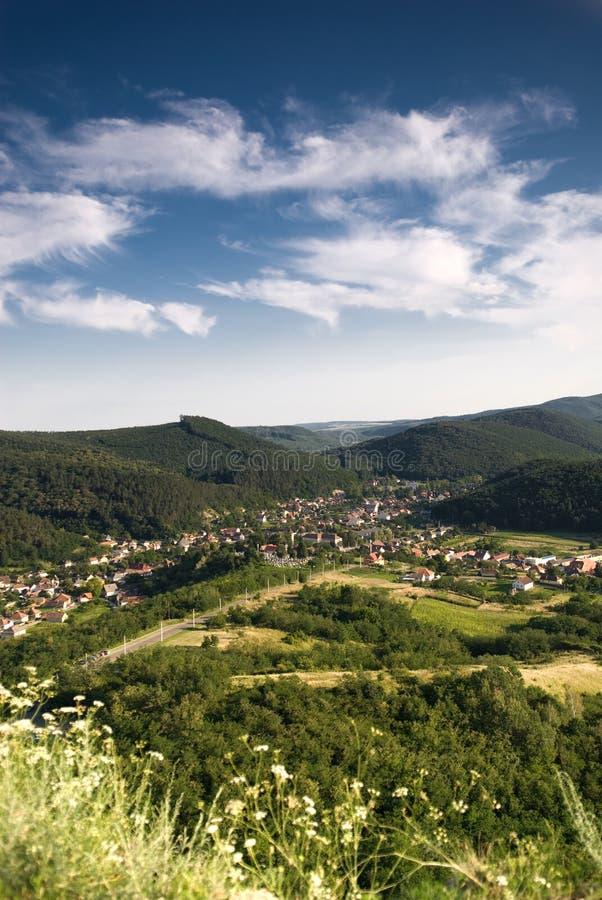 Landschap van Hongarije, Sirok stock foto's
