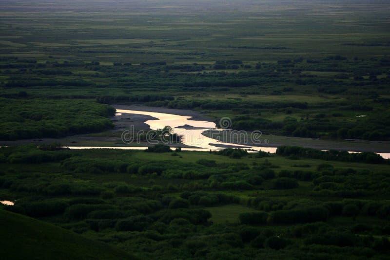 Landschap van Hulunbuir-Weiden stock afbeelding