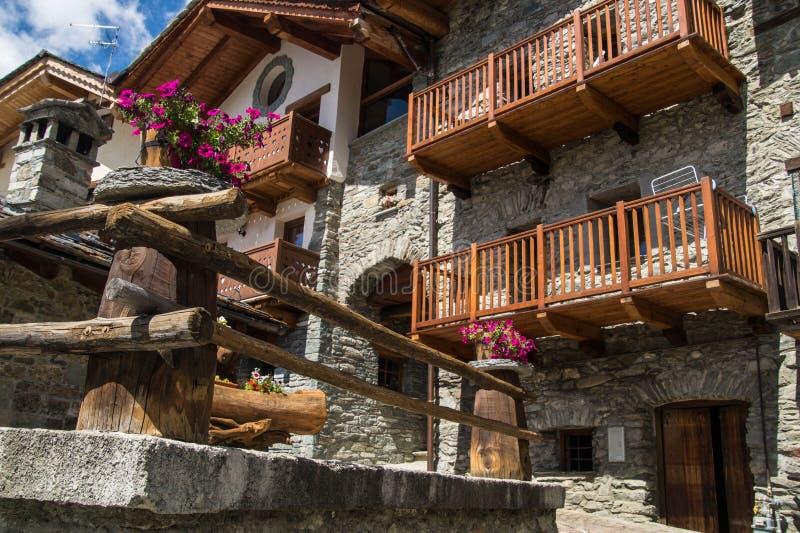 Landschap van Italiaanse alpen royalty-vrije stock afbeelding