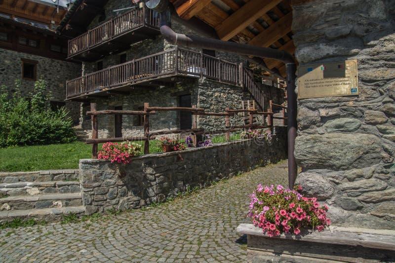 Landschap van Italiaanse alpen stock foto