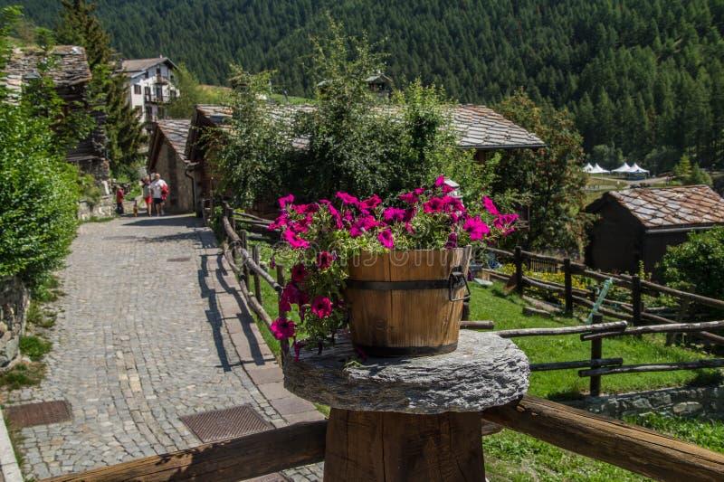 Landschap van Italiaanse alpen royalty-vrije stock fotografie
