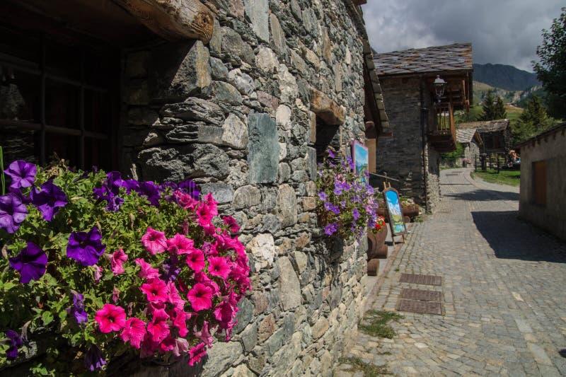 Landschap van Italiaanse alpen royalty-vrije stock afbeeldingen