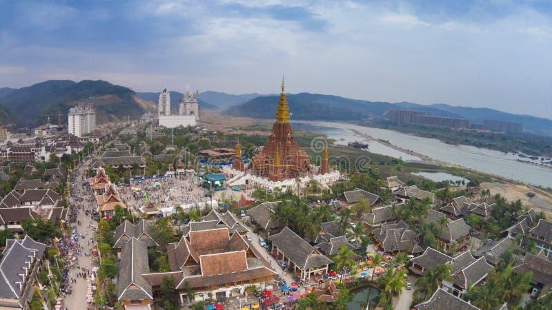 Landschap van Jinghong het yunnan China stock fotografie