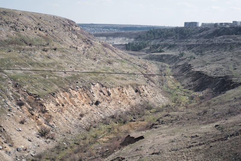 Landschap van lege diepe aardeklip van aard royalty-vrije stock foto