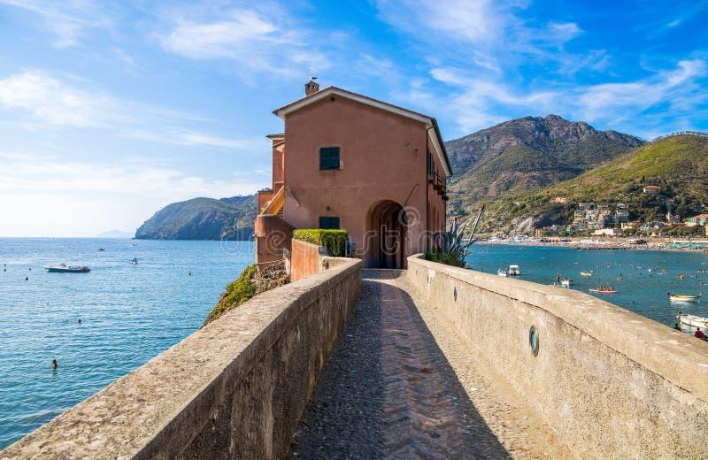 Landschap van Levanto, de provincie van La Spezia dichtbij 5 Terre, Italië royalty-vrije stock afbeeldingen