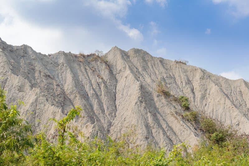 Landschap van maanwereld in Kaohsiung, Taiwan stock foto
