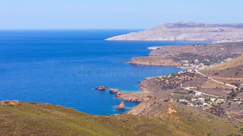 Landschap van Mani-schiereiland, Laconia, de Peloponnesus, Griekenland royalty-vrije stock afbeeldingen
