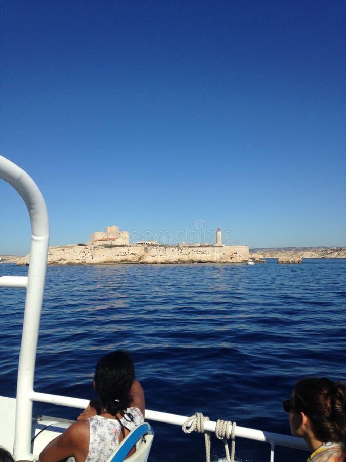 Landschap van Marseille frioul stock foto's