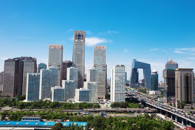 Landschap van moderne stad, Peking royalty-vrije stock afbeelding