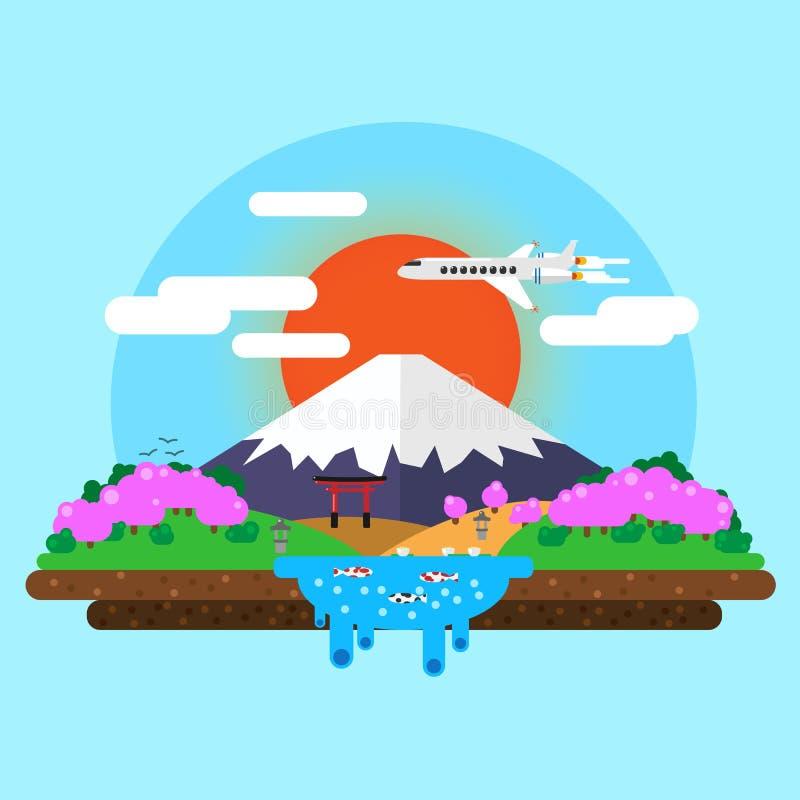 landschap van Onderstel Fuji stock illustratie