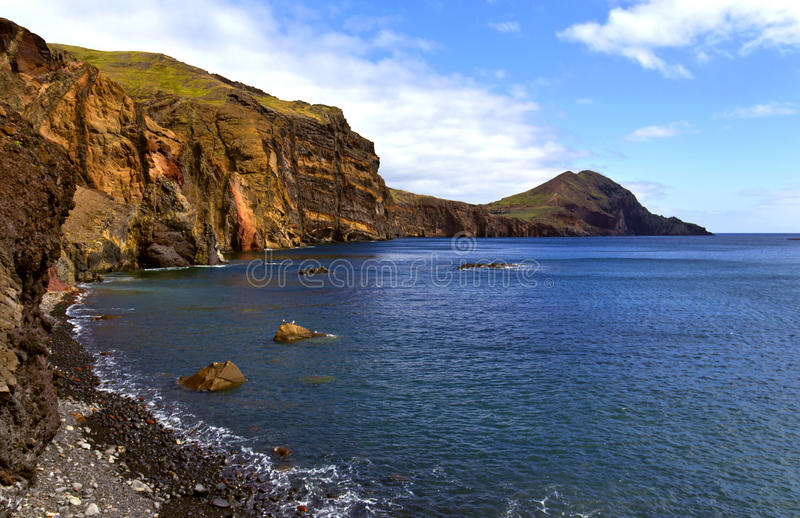 Landschap van peble strand royalty-vrije stock foto's