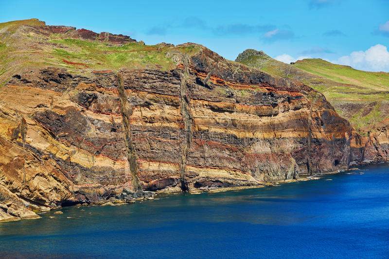 Landschap van Ponta DE Sao Lourenco op de Oostelijke kust van het eiland van Madera, Portugal royalty-vrije stock foto