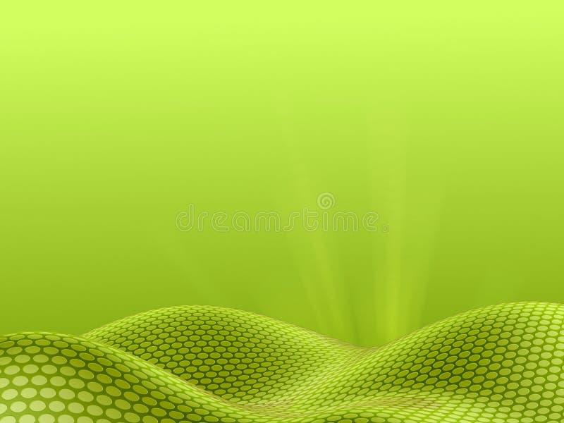 Landschap van punten - groene hemelversie vector illustratie