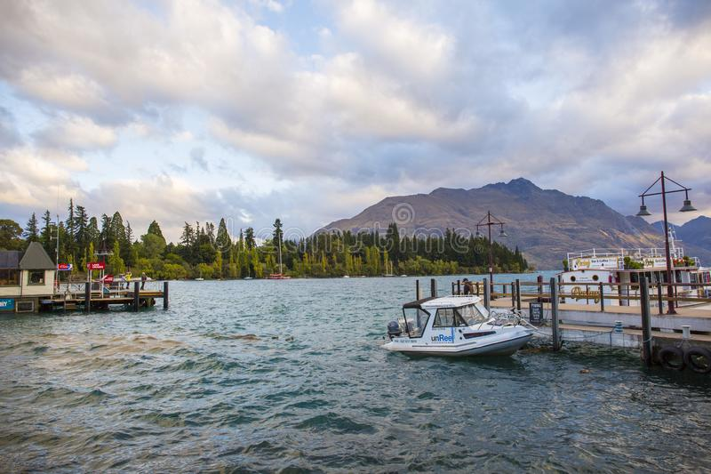 Landschap van Queenstown stock afbeelding