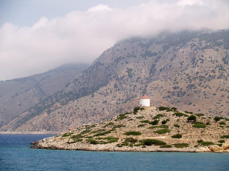 Landschap van Rhodos, Griekenland stock afbeelding