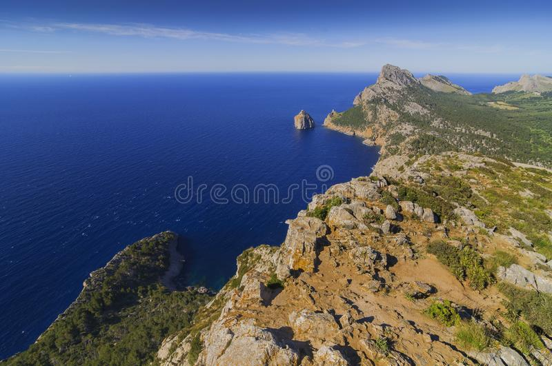 Landschap van riffs in Mallorca royalty-vrije stock foto