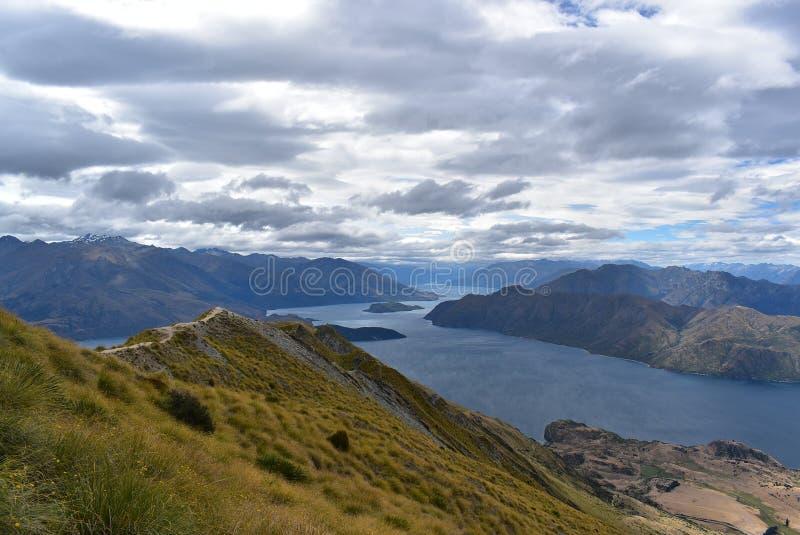 Landschap van Roys-Piek, Zuideneiland van Nieuw Zeeland royalty-vrije stock afbeelding