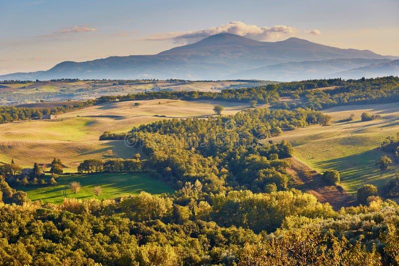 Landschap van San Quirico D ` Orcia, Toscanië, Italië royalty-vrije stock afbeeldingen