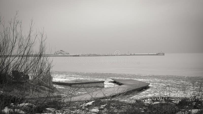 Landschap van Sopot stock foto's