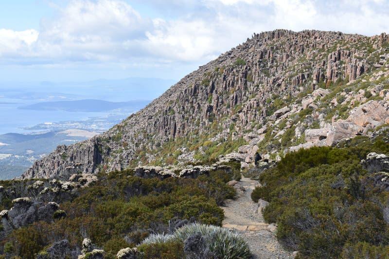 Landschap van Tasmanige bij Onderstel Wellington Walk in Hobart royalty-vrije stock foto's
