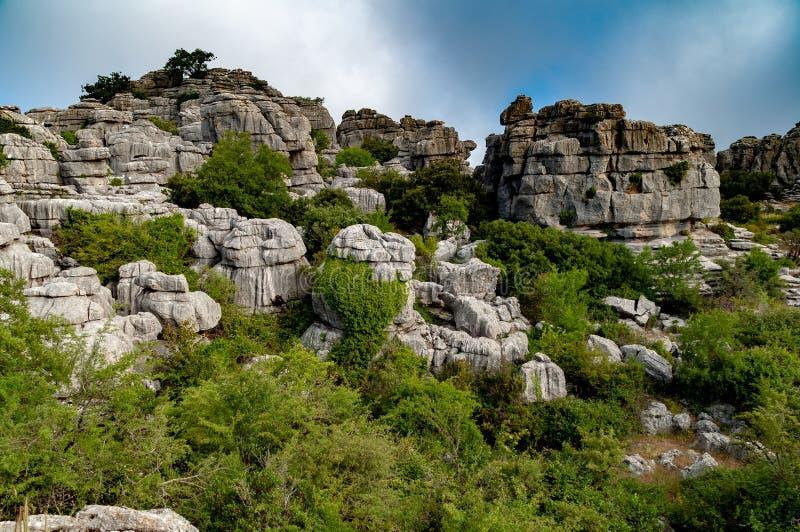 Landschap van Torcal DE Antequera royalty-vrije stock afbeelding
