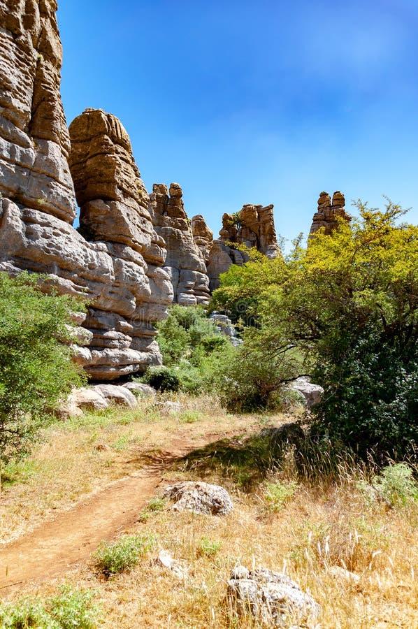 Landschap van Torcal DE Antequera royalty-vrije stock foto's