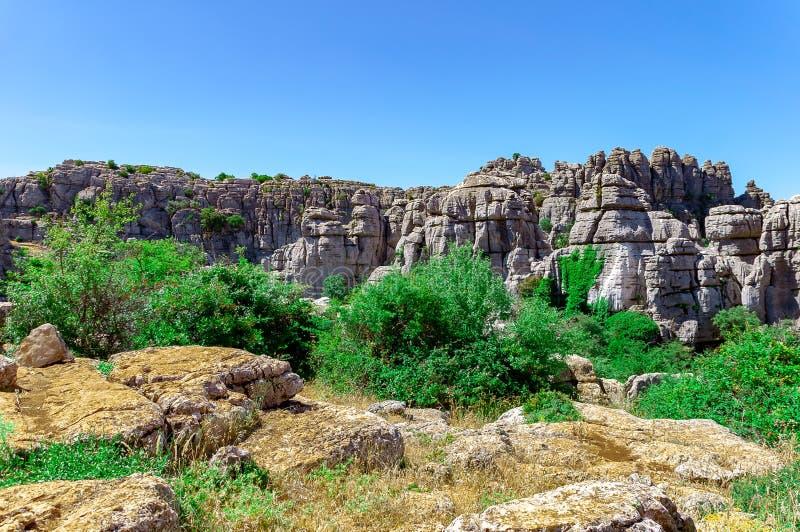 Landschap van Torcal DE Antequera stock afbeelding
