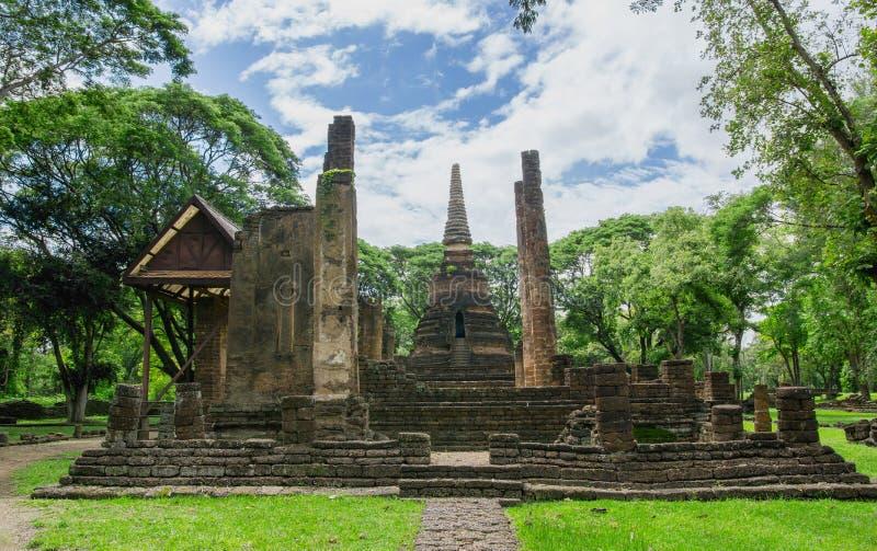 Landschap van Wat Nang Phaya, stock afbeelding