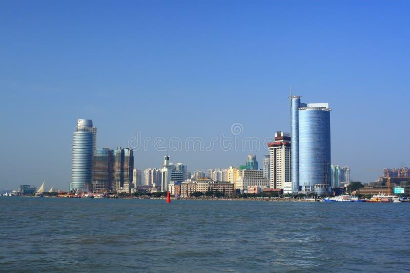Landschap van Xiamen stock afbeelding