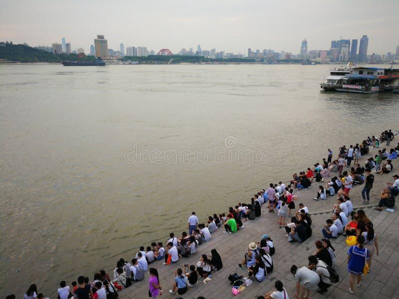 Landschap van Yangtze-rivier royalty-vrije stock afbeeldingen